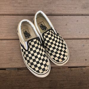 used CHECKERED VANS size 8